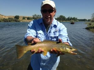 BigHorn River - Happy Client and his Brown Trout