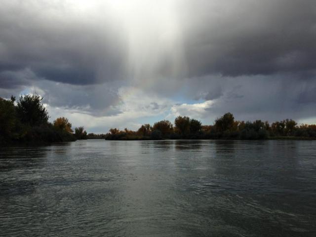 Bighorn River - Summer time - Afternoon Rain