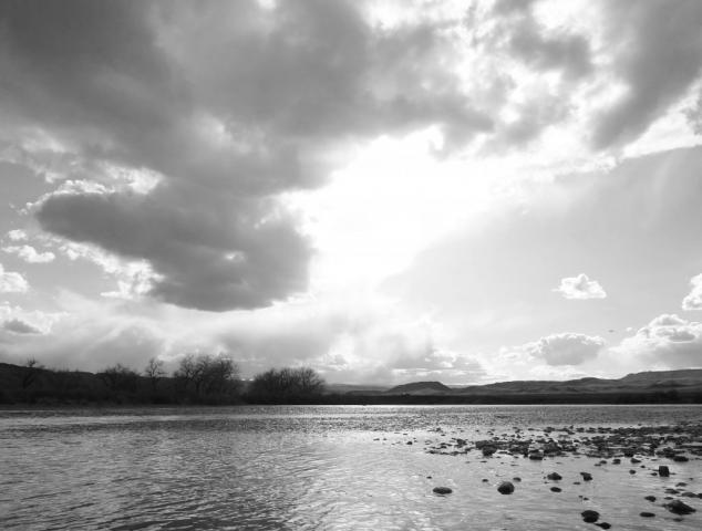 Black & White Horizon - Bighorn River