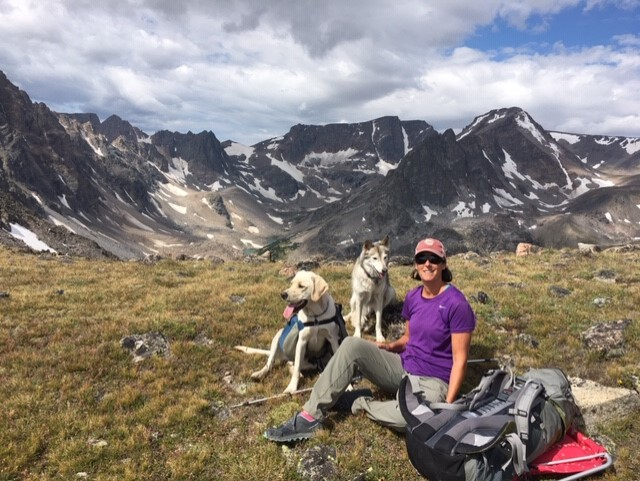 Katie's free time is spent fishing, hunting, camping, gardening, backpacking, and white-water rafting with their dogs Oona, Gus, and Cooper.